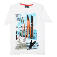 Urban Vintage Printed T Shirt White