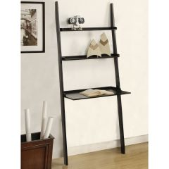 Mintra 3 Tier Leaning Wall Shelf Black