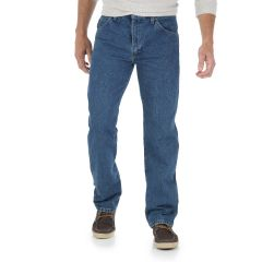 Wrangler 5 Star Mens Regular Fit Jean Blue Regular