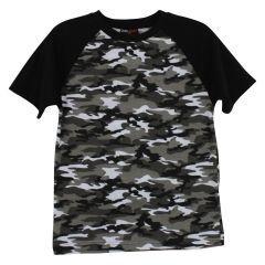 Zero Sport Two Tone Camouflage Cotton T-Shirt Size 8-16