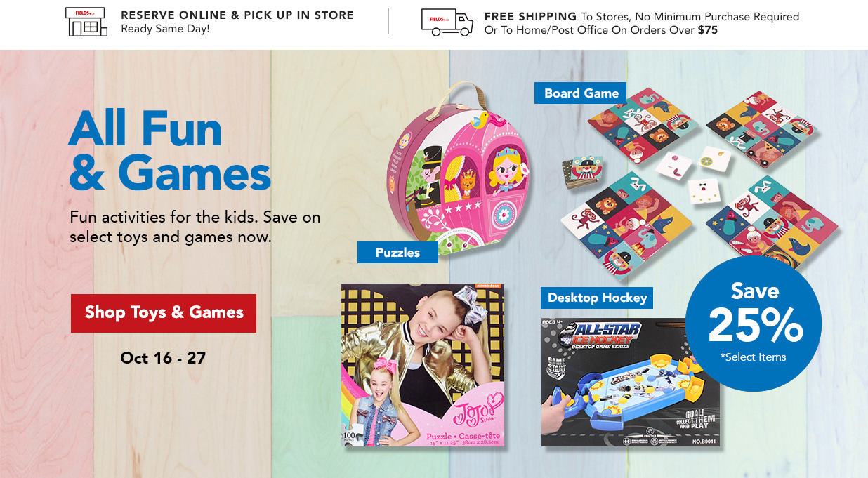 FIELDS 25% Off Puzzles Board Game Toys