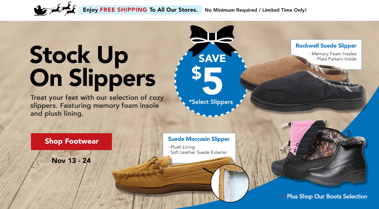 FIELDS Save $5 OFF Slippers