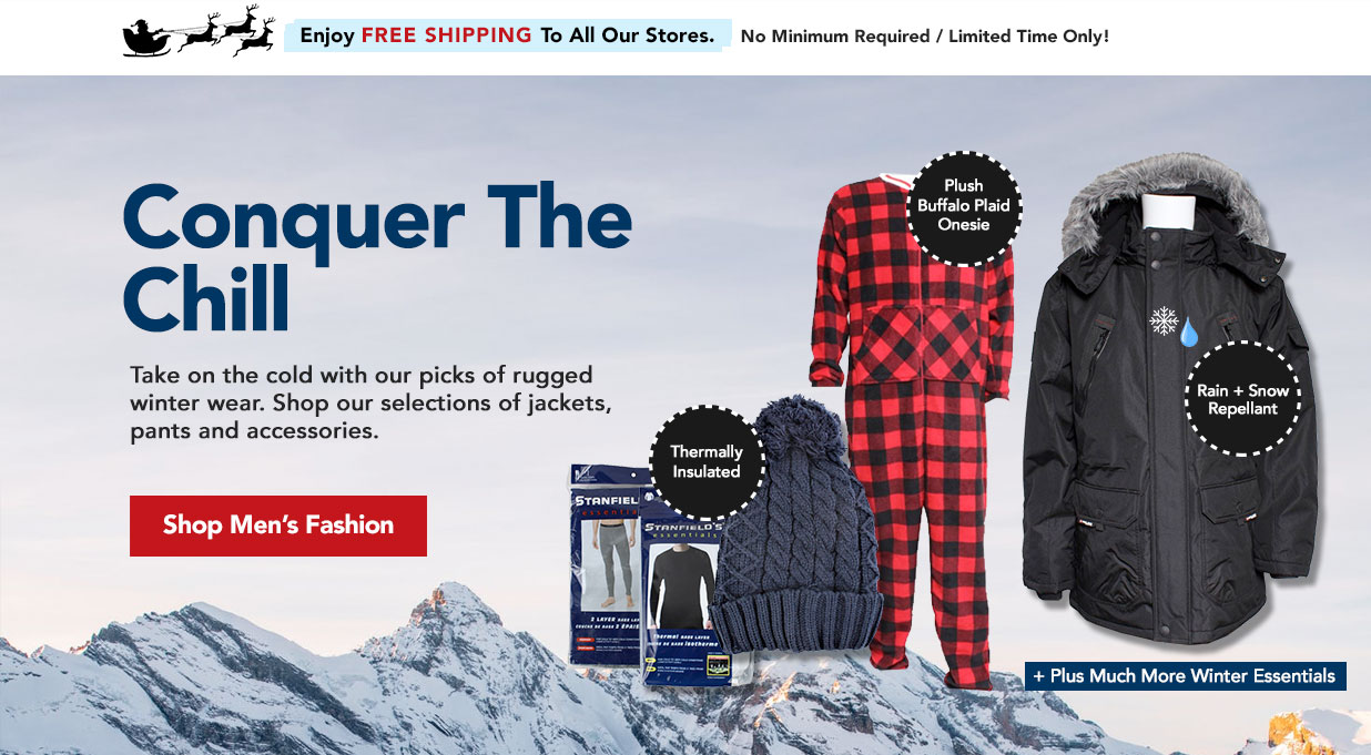FIELDS Mens Winter Fashion - Shop thermal accessories, jackets. sleepwear and more