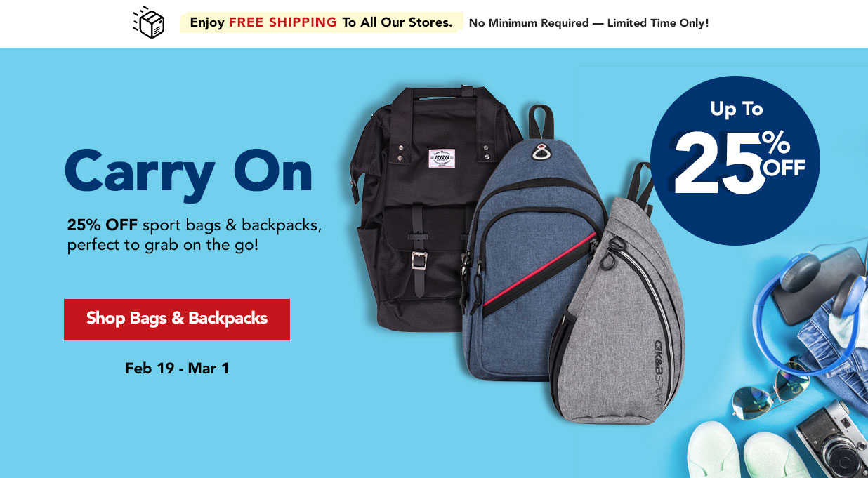 FIELDS 25% OFF Backpacks and Sport Bags