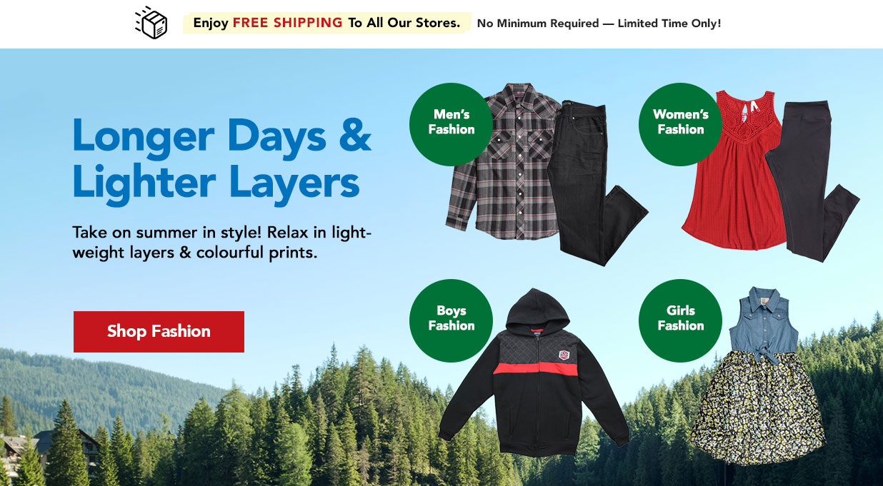 FIELDS Affordable Fashion For The Whole Family