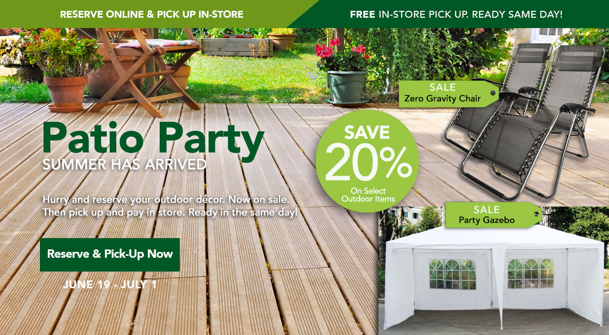 FIELDS Outdoor Living Sale Save 20%